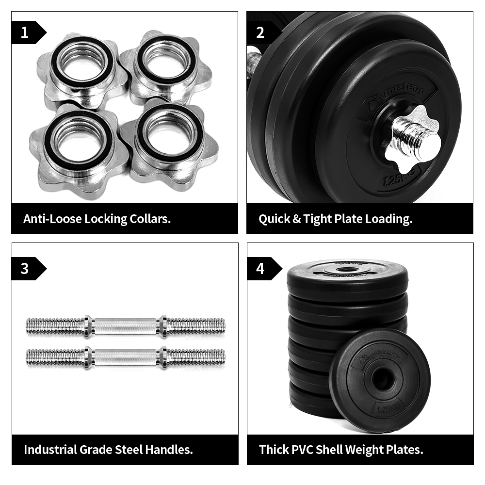 METEOR-15-35kg-Dumbbell-Set-Weight-Dumbbells-Plates-Home-Gym-Fitness-Exercise thumbnail 21