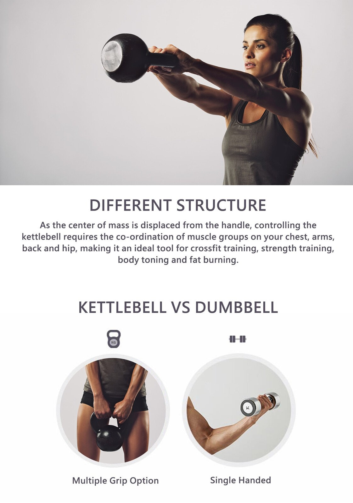 thumbnail 57 - METEOR Cast Iron Kettlebell Powder Coating Cross Weight Lifting Dumbbell Gym