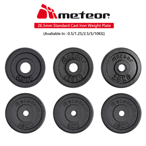 26.5mm Standard Weight Plate (Solid Cast Iron with Black Powder Coating)