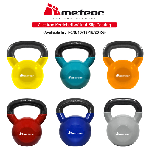 Cast Iron Kettlebell (Vinyl Coating Floor Protection)